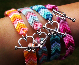 bracelet, heart, and friends image