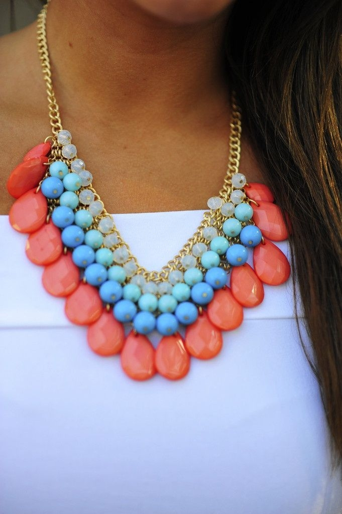 colorful, necklace, and gorgeous image