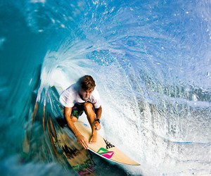 boy, waves, and surf image