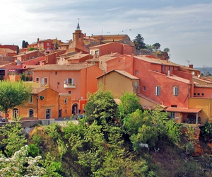 provence, lovely places, and roussillon image