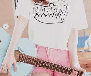 batman, guitar, and pink image