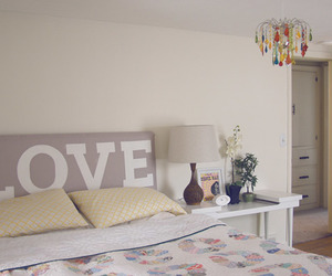 bedroom, love, and bed image
