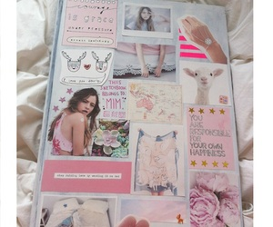 Collage, notebook, and pink image