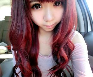 asian, chinese, and hair image
