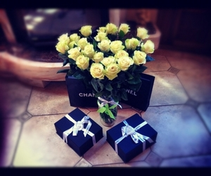 flowers, chanel, and roses image