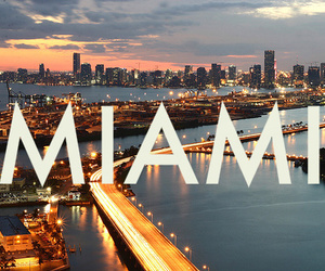Miami, city, and light image