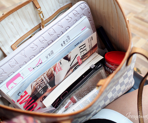 bag, LV, and magazines image