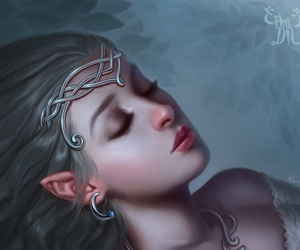 fantasy, art, and elf image