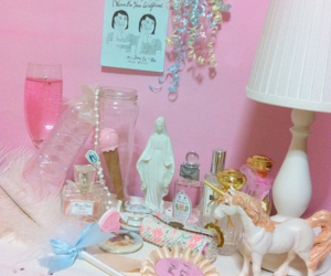 pink, pastel, and room image