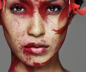 model, ANTM, and red image