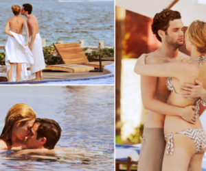 candids, Penn Badgley, and blake lively image