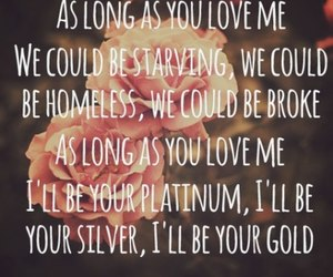 justin bieber, as long as you love me, and love image