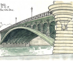 bridge, croquis, and france image