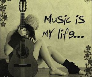 music, guitar, and life image