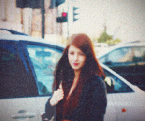 lomography, photography, and redhead image