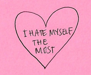 pink, quote, and sad image