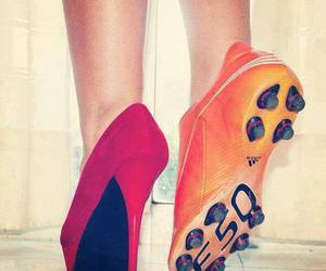 football, shoes, and soccer image