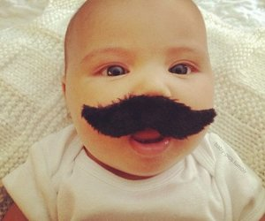 baby, little, and mustache image