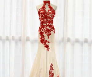 lace, wedding, and wedding gown image