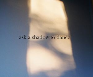 dance, photography, and shadow image