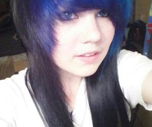 blue, hair, and hairstyles image