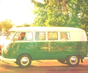 bus, festival, and flower power image