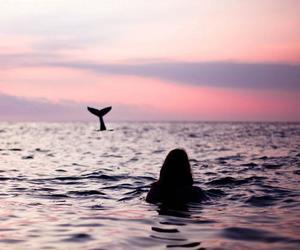 girl, sea, and ocean image