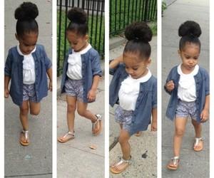 baby, baby girl, and black girl image