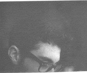 boy, black and white, and glasses image