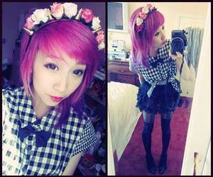 clothes, fashion, and pastel goth image