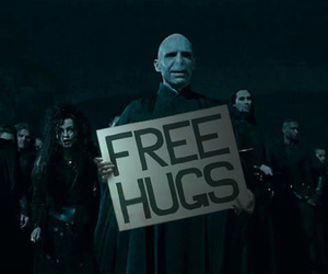 harry potter, voldemort, and free hugs image