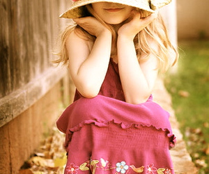 child, dress, and flower image
