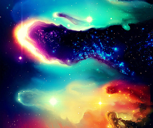 galaxy, sky, and colorful image