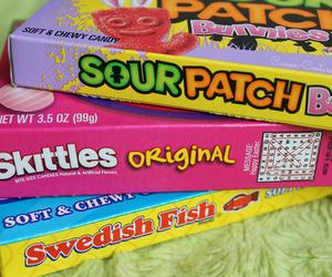 candy, skittles, and swedish fish image