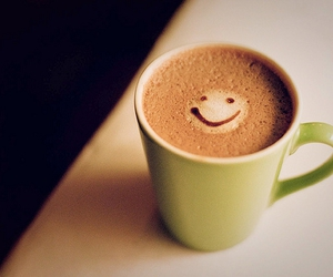 smile, coffee, and cup image