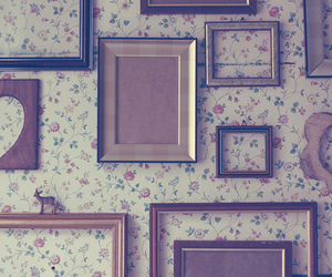 vintage, frame, and floral image
