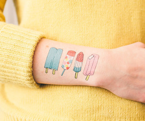 tattoo, ice cream, and popsicle image