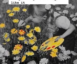girl, flowers, and quote image