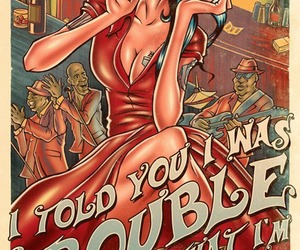 Amy Winehouse, cartoon, and trouble image