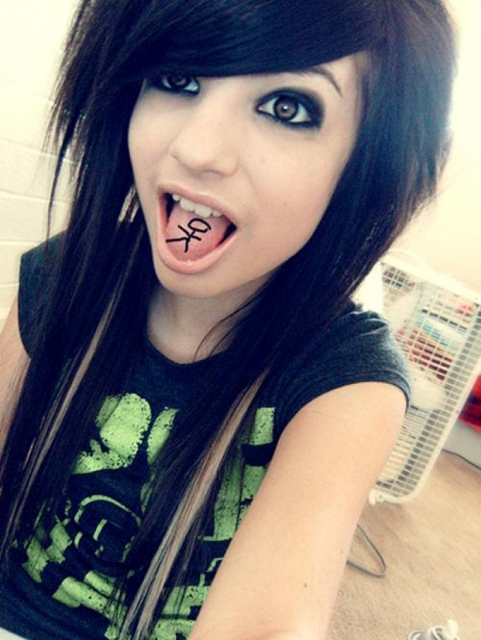 Cute Long Straight Emo Haircut With Side Swept Bangs Hair For