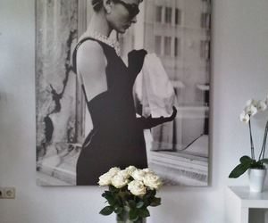audrey hepburn, flowers, and rose image