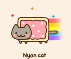 nyan cat, cat, and gif image