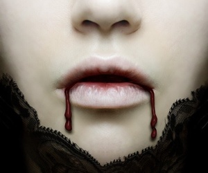 vampire, blood, and gothic image