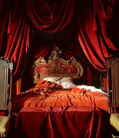 bedroom, gothic, and red image