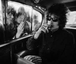 bob dylan, black and white, and cigarette image