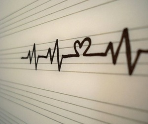 love, heart, and heartbeat image