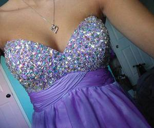 dress, purple, and cool image