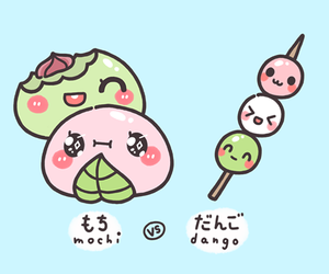 dango, mochi, and kawaii image