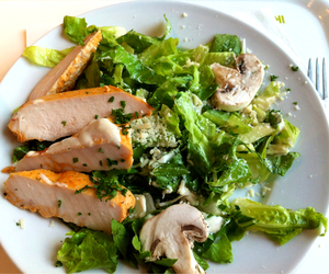 food, Chicken, and salad image