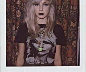 black lipstick and girl image